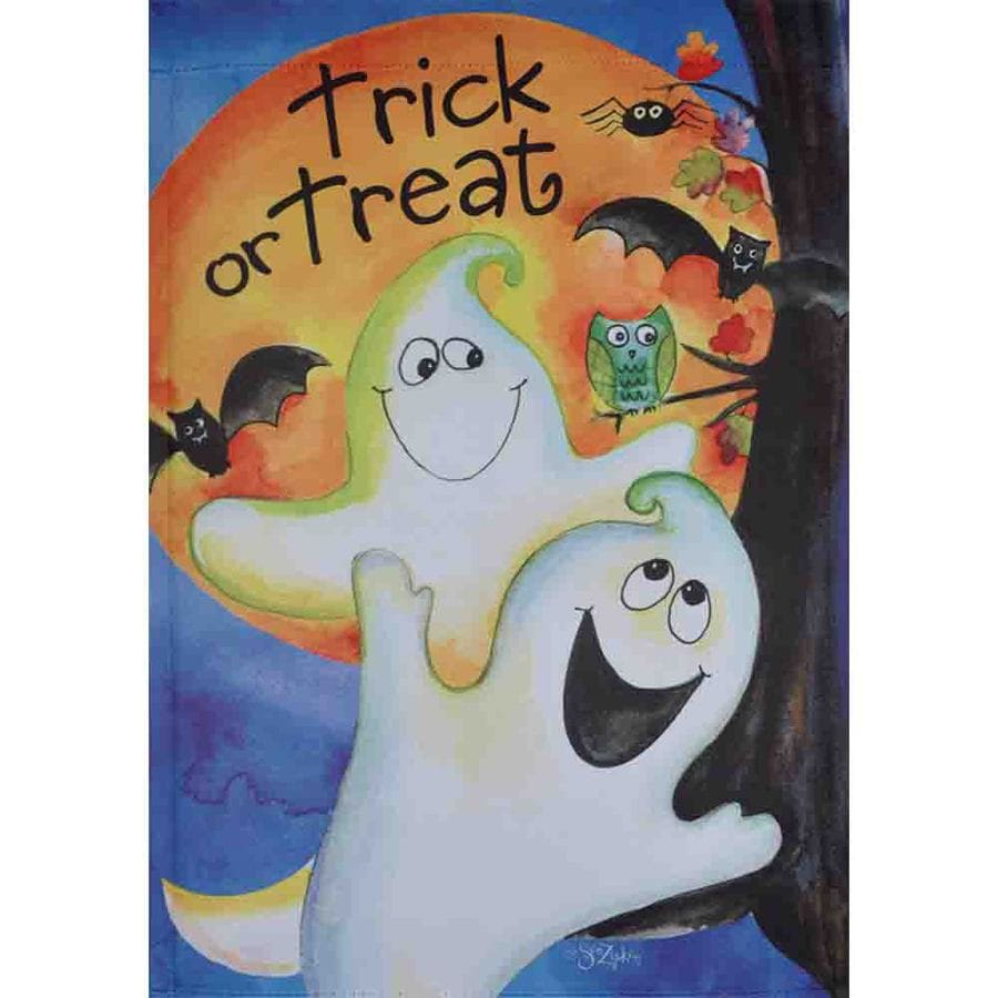 Rain or Shine 1.04-ft W x 1.5-ft H Halloween Garden Flag