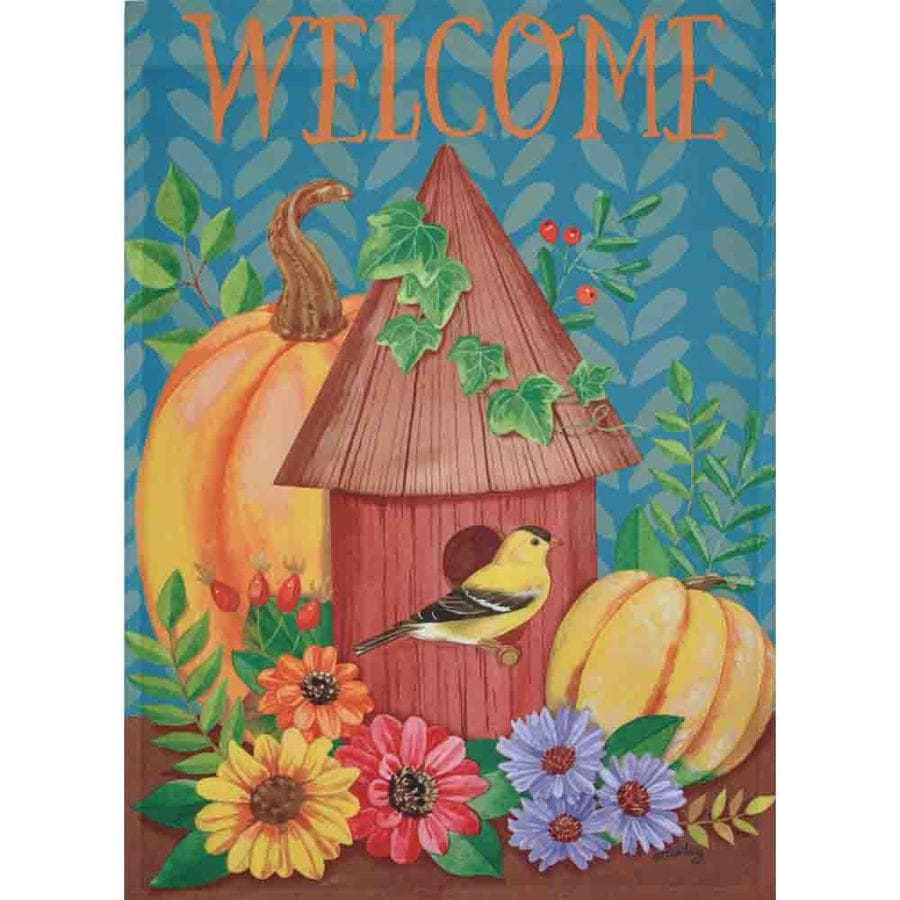 Rain or Shine 2.33-ft W x 3.33-ft H Fall House Flag