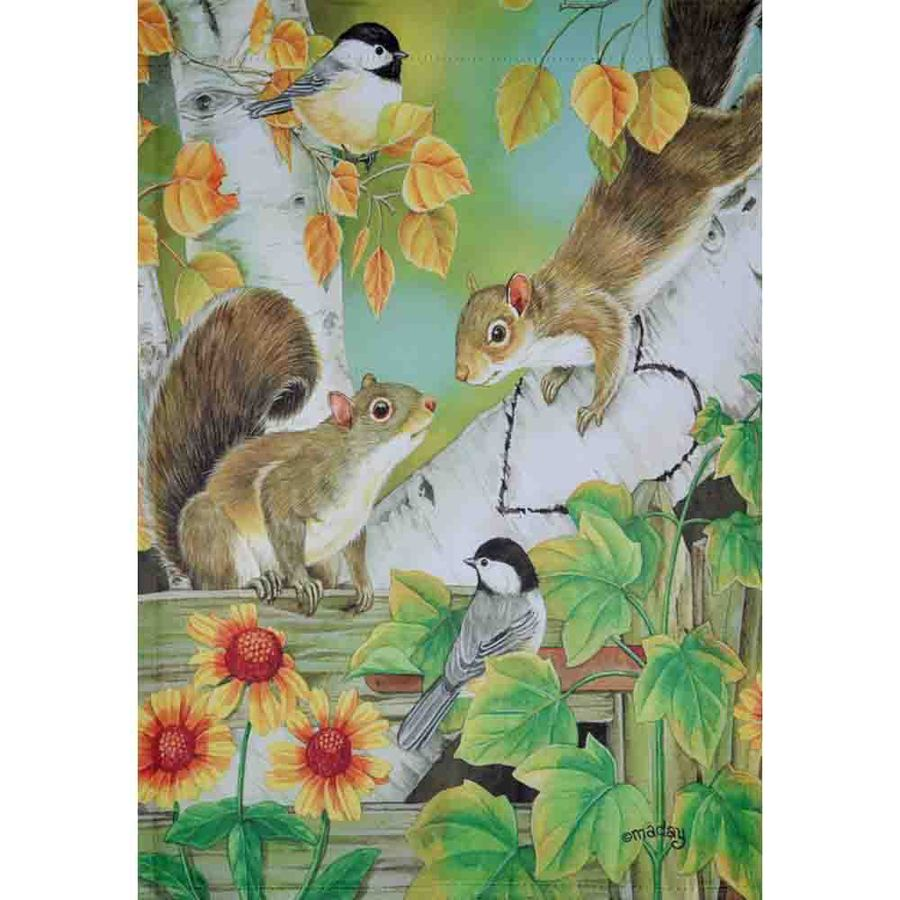 Rain or Shine 1.04-ft W x 1.5-ft H Fall Garden Flag