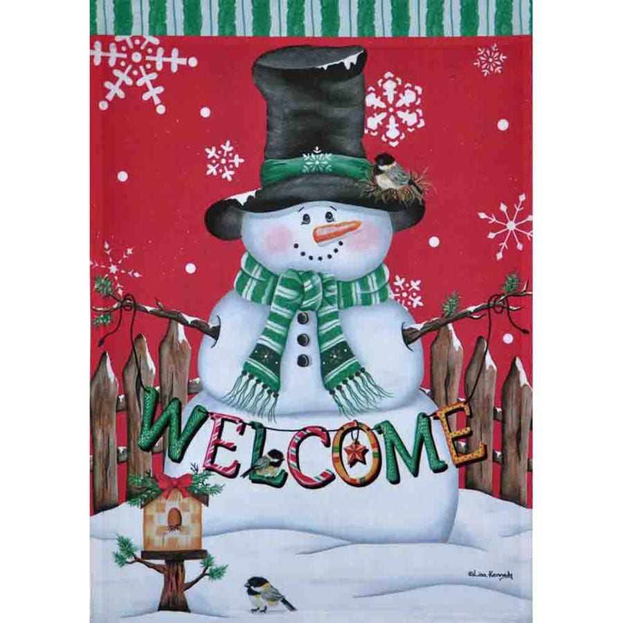 Rain or Shine 1.04-ft W x 1.5-ft H Christmas Garden Flag