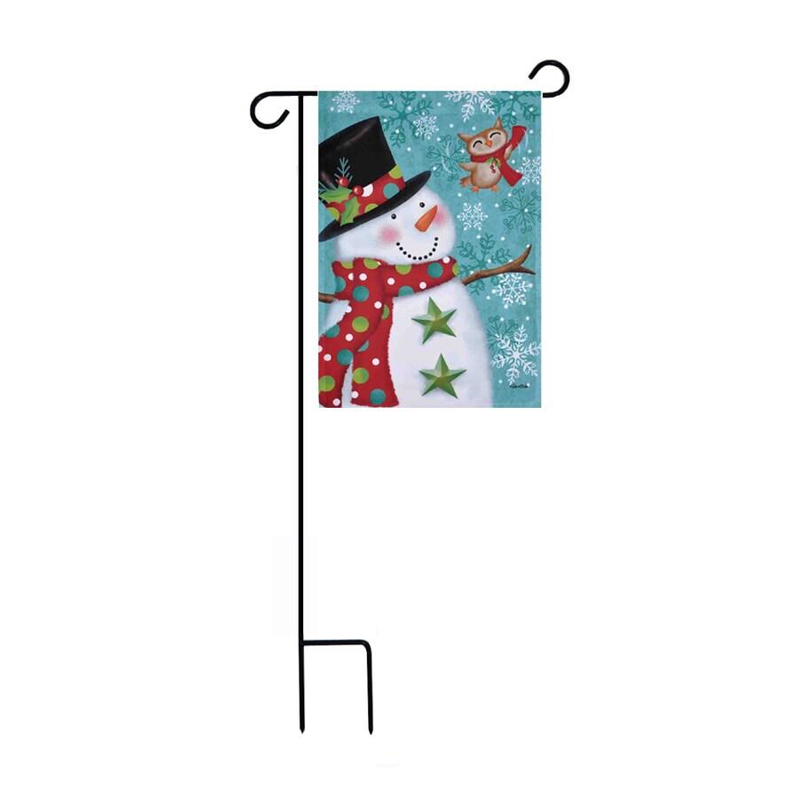 Rain or Shine 1.48-ft W x 3.17-ft H Christmas Embroidered Garden Flag