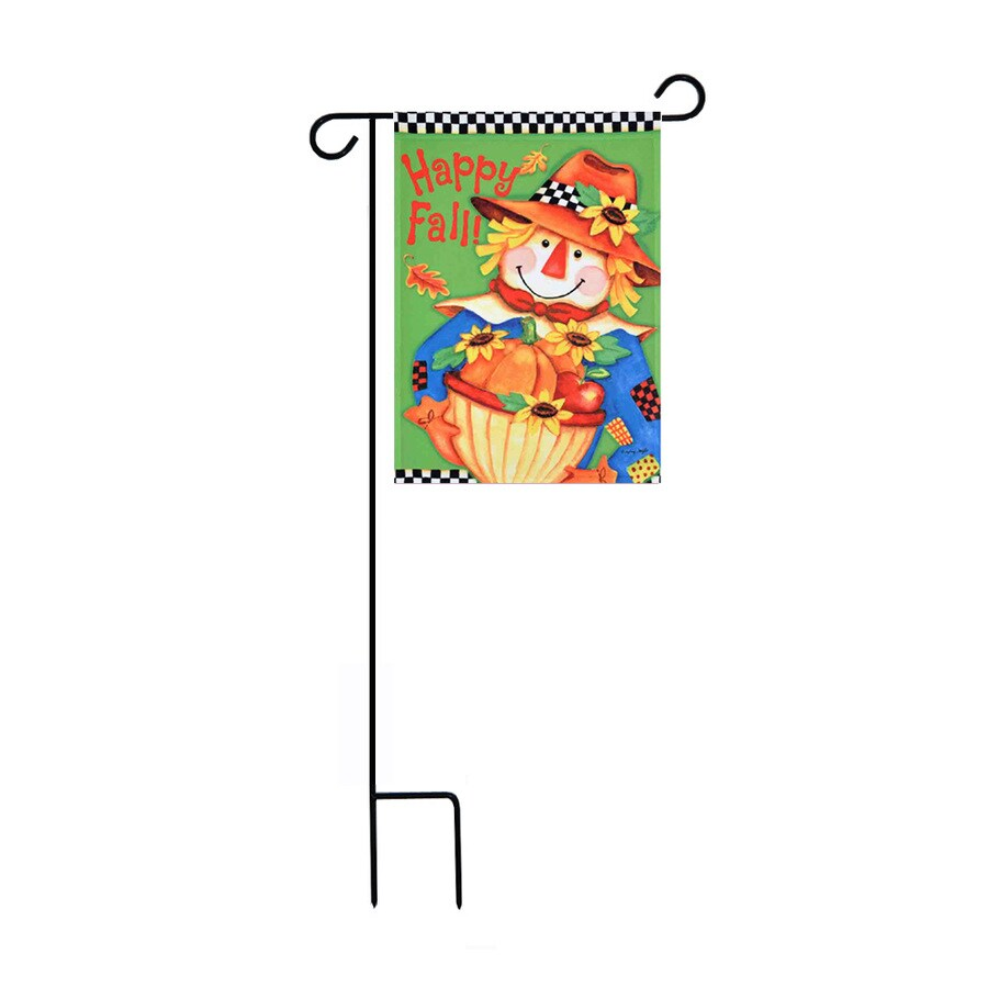 Rain or Shine 1.48-ft W x 3.17-ft H Fall Embroidered Garden Flag