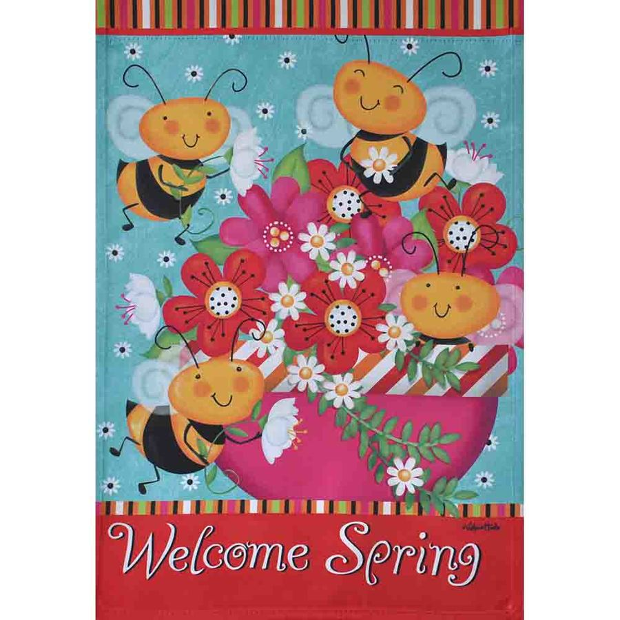 Rain or Shine 1.04-ft W x 1.5-ft H Bugs Garden Flag