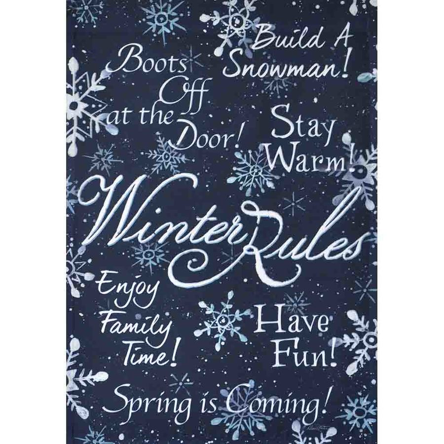 Rain or Shine 1.04-ft W x 1.5-ft H Winter Garden Flag