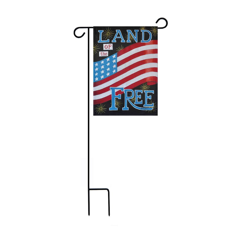 1.48-ft W x 3.17-ft H Patriotic Garden Flag