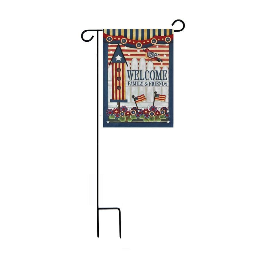 1.48-ft W x 3.17-ft H Patriotic Garden Flag