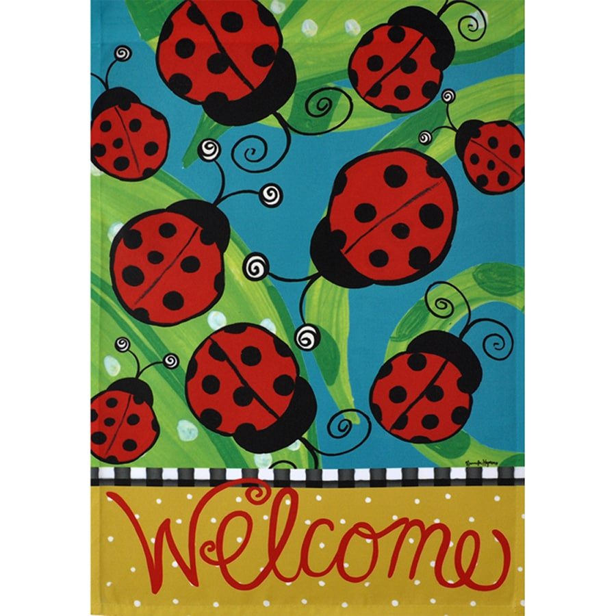 Rain or Shine 2.33-ft W x 3.33-ft H Bugs House Flag