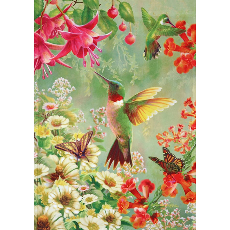 Rain or Shine 2.33-ft W x 3.33-ft H Birds House Flag