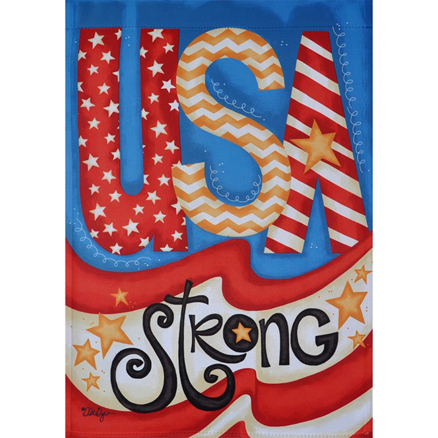 Rain or Shine 1.04-ft W x 1.5-ft H Patriotic Garden Flag