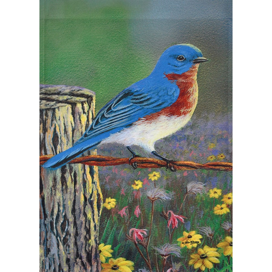 Rain or Shine 1.04-ft W x 1.5-ft H Birds Garden Flag