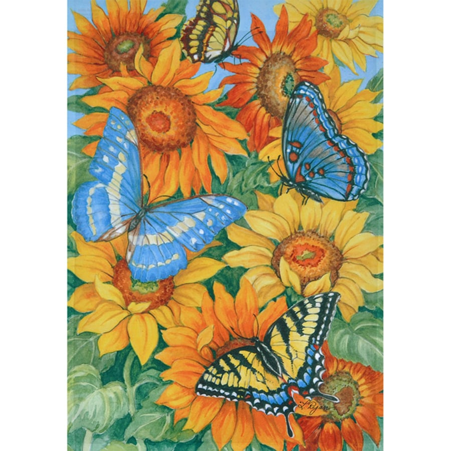 Rain or Shine 1.04-ft W x 1.5-ft H Butterflies Garden Flag