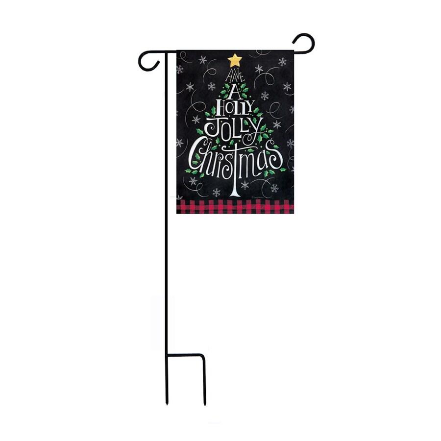 1.48-ft W x 3.17-ft H Christmas Garden Flag