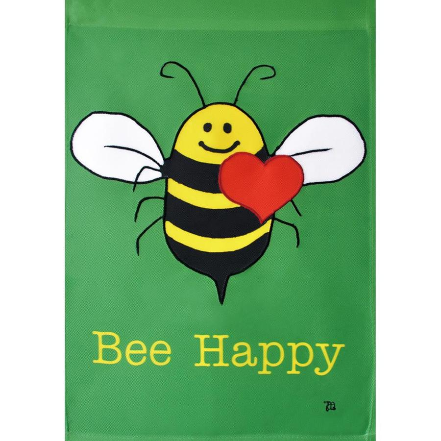 Shop Rain or Shine Bee Happy Garden Flag at Lowes.com