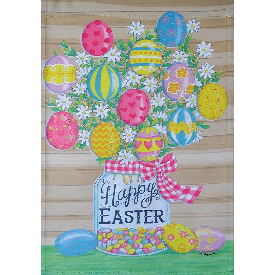 Rain Or Shine Easter Egg Garden Flag At Lowes Com