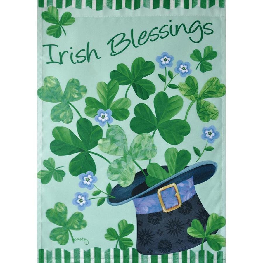 Shop Rain or Shine Irish Blessings Garden Flag at Lowes.com