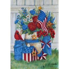 46a8f8fbe9e4 Rain or Shine 1.04-ft W x 1.5-ft H Patriotic Garden Flag