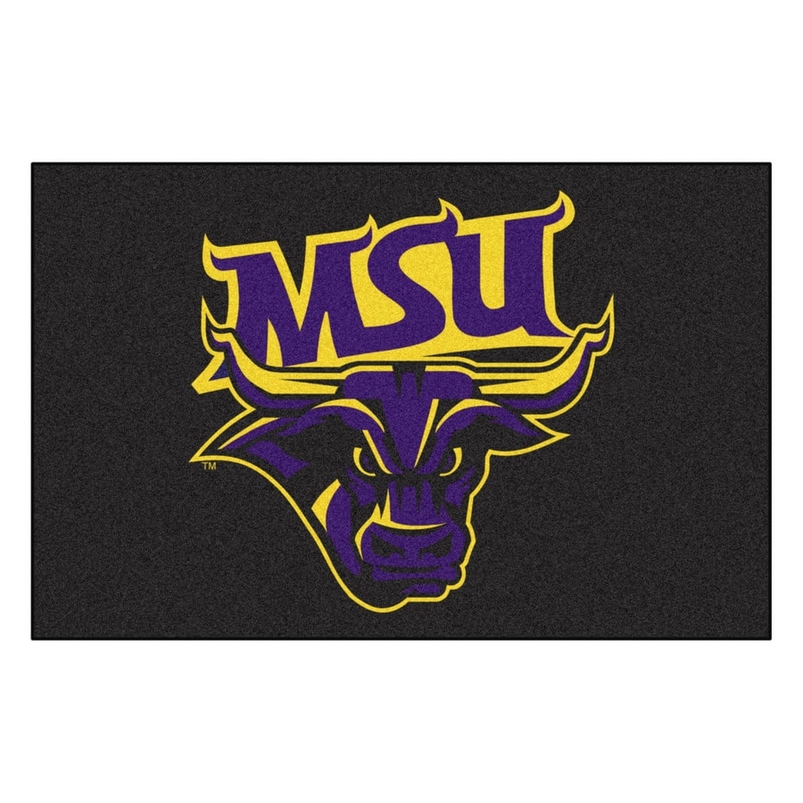 FANMATS Minnesota State University- Mankato Multicolor Rectangular Indoor Machine-Made Sports Throw Rug (Common: 1-1/2 x 2-1/2; Actual: 19-ft W x 30-ft L)