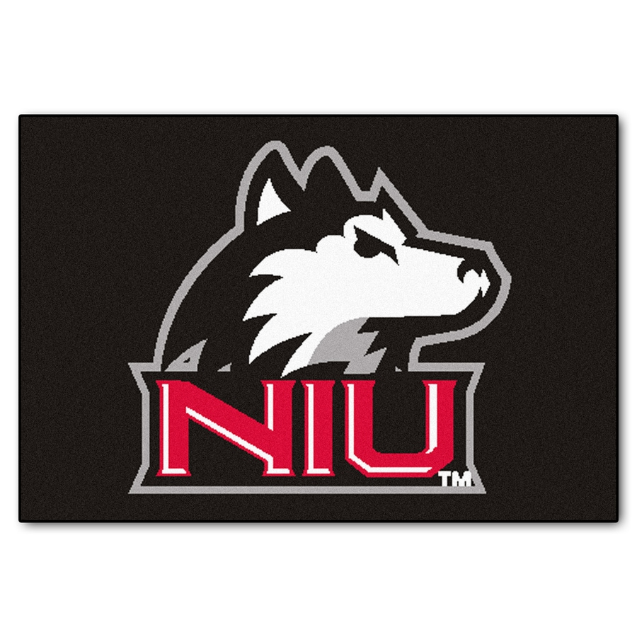 FANMATS Northern Illinois University Rectangular Indoor Machine-Made Sports Throw Rug (Common: 1-1/2 x 2-1/2; Actual: 1.583-ft W x 2.5-ft L x dia)