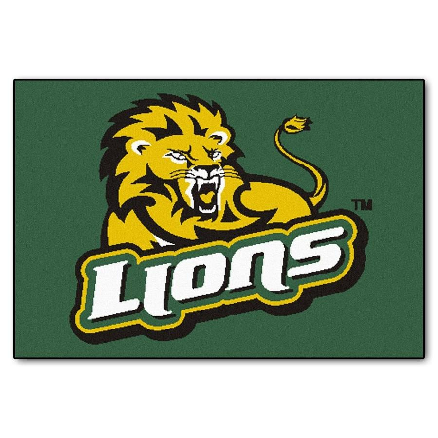 FANMATS Southeastern Louisiana Rectangular Indoor Machine-Made Sports Throw Rug (Common: 1-1/2 x 2-1/2; Actual: 1.583-ft W x 2.5-ft L x dia)