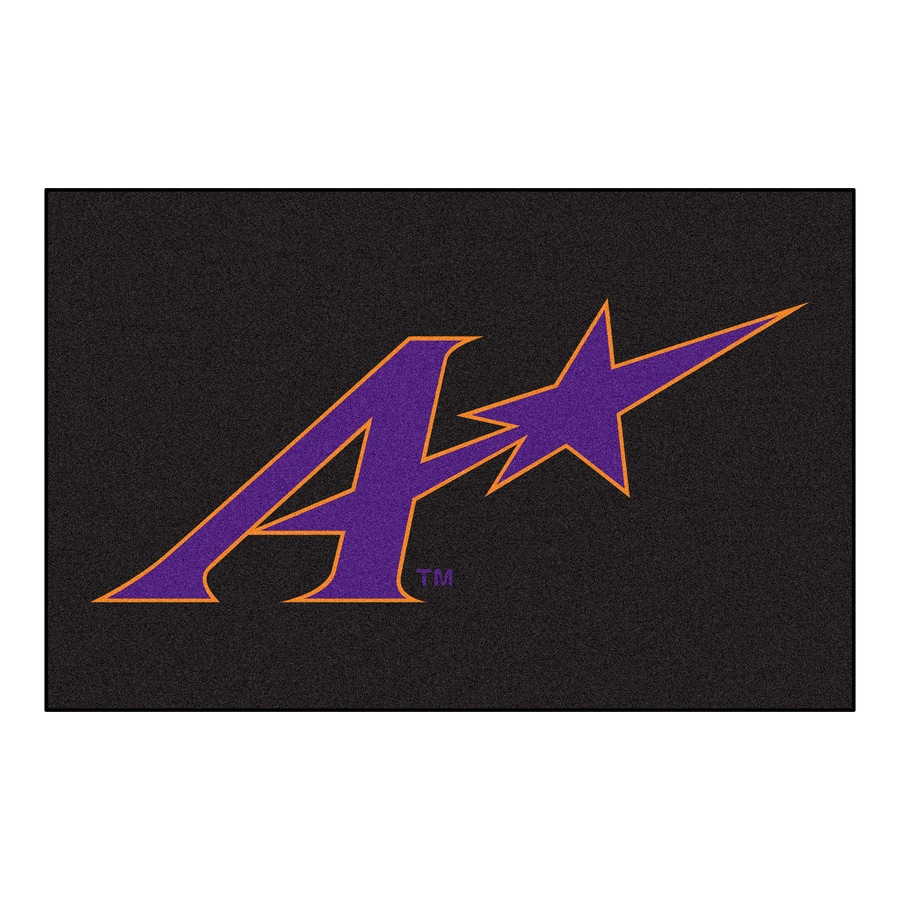 FANMATS University of Evansville Rectangular Indoor Machine-Made Sports Throw Rug (Common: 1-1/2 x 2-1/2; Actual: 1.583-ft W x 2.5-ft L x dia)