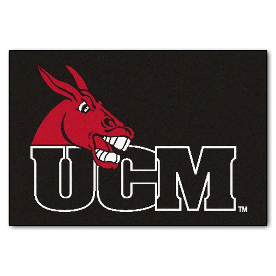 FANMATS University Of Central Missouri Multicolor Rectangular Indoor Machine-Made Sports Throw Rug (Common: 1-1/2 x 2-1/2; Actual: 19-ft W x 30-ft L)