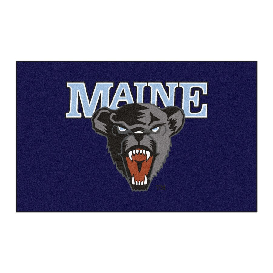 FANMATS University Of Maine Multicolor Rectangular Indoor Machine-Made Sports Throw Rug (Common: 1-1/2 x 2-1/2; Actual: 19-ft W x 30-ft L)