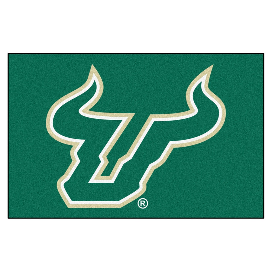 FANMATS University Of South Florida Multicolor Rectangular Indoor Machine-Made Sports Throw Rug (Common: 1-1/2 x 2-1/2; Actual: 19-ft W x 30-ft L)