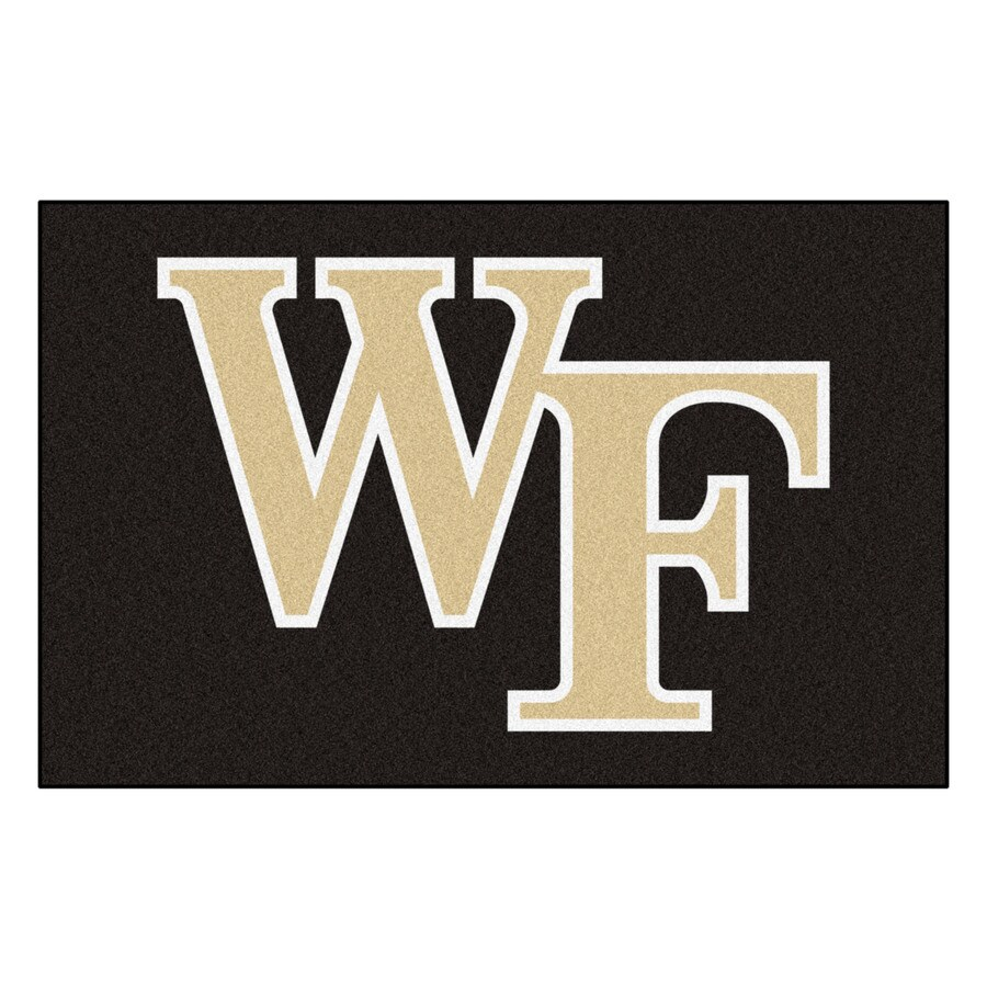 FANMATS Wake Forest University Rectangular Indoor Machine-Made Sports Throw Rug (Common: 1-1/2 x 2-1/2; Actual: 1.583-ft W x 2.5-ft L x dia)