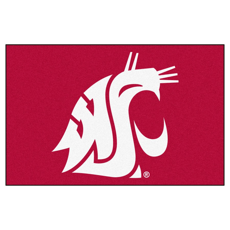 FANMATS Washington State University Multicolor Rectangular Indoor Machine-Made Sports Throw Rug (Common: 1-1/2 x 2-1/2; Actual: 19-ft W x 30-ft L)