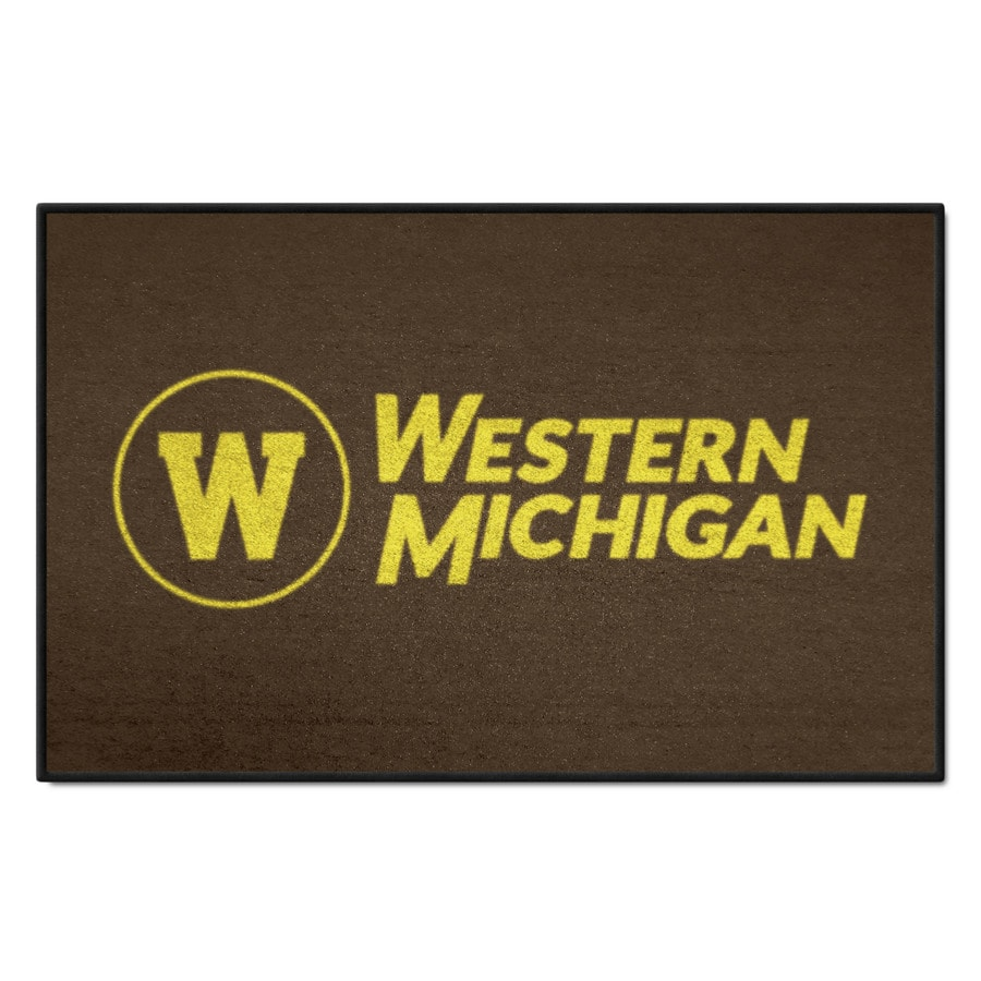 FANMATS Western Michigan University Multicolor Rectangular Indoor Machine-Made Sports Throw Rug (Common: 1-1/2 x 2-1/2; Actual: 19-in W x 30-in L x 0-ft Dia)
