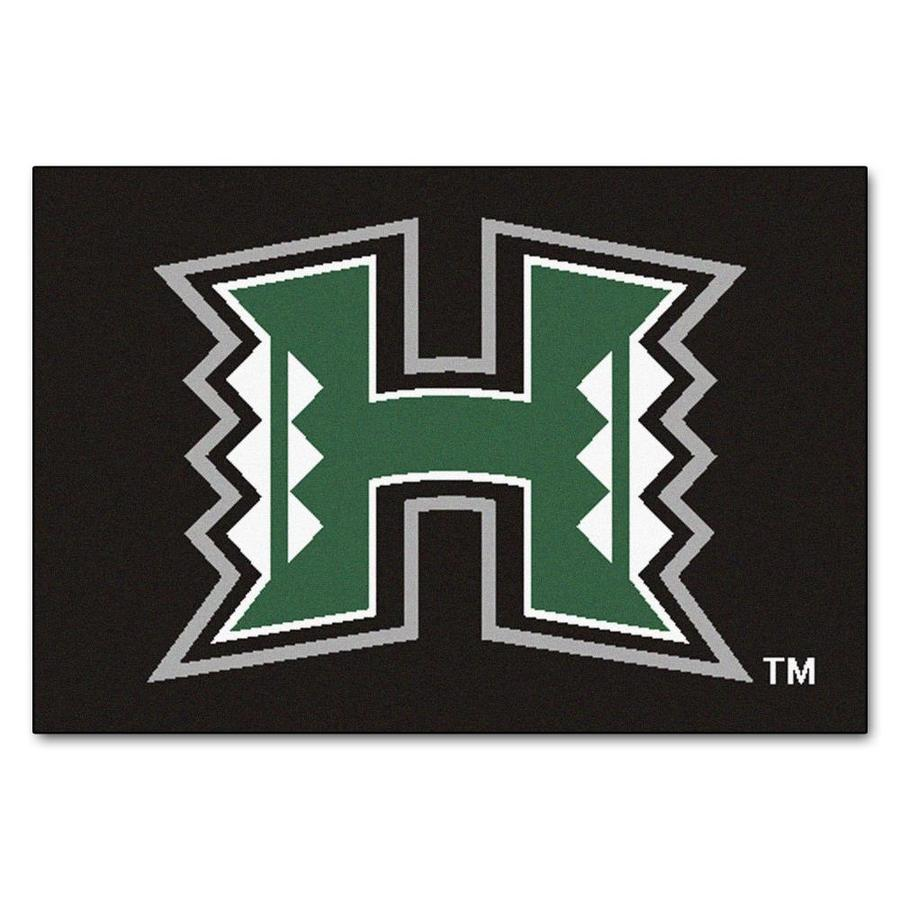 FANMATS University Of Hawaii Multicolor Rectangular Indoor Machine-Made Sports Throw Rug (Common: 1-1/2 x 2-1/2; Actual: 19-ft W x 30-ft L)