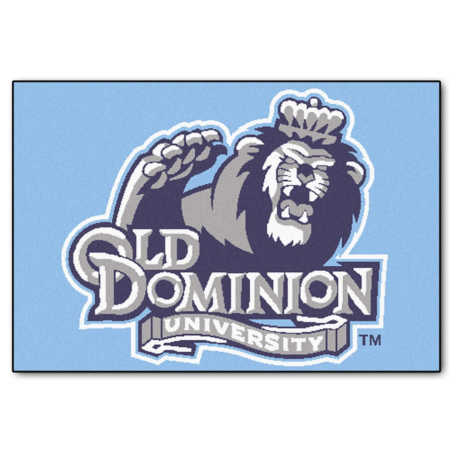 FANMATS Old Dominion University Rectangular Indoor Machine-Made Sports Throw Rug (Common: 1-1/2 x 2-1/2; Actual: 1.583-ft W x 2.5-ft L x dia)