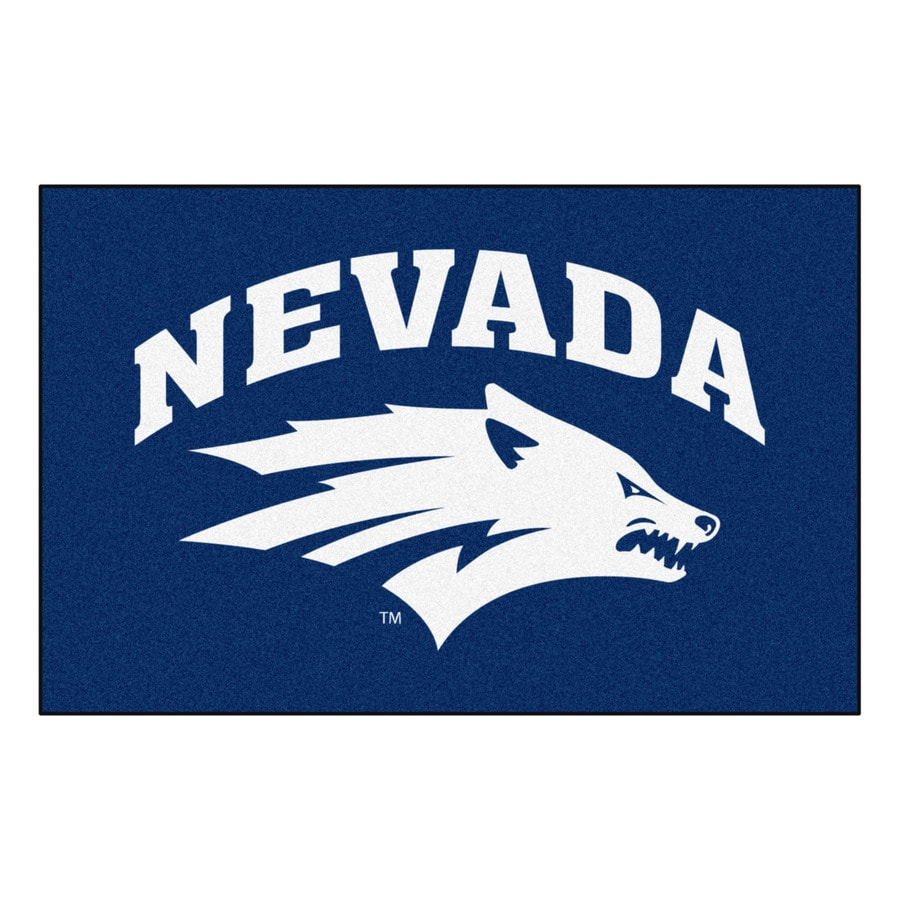 FANMATS University Of Nevada Multicolor Rectangular Indoor Machine-Made Sports Throw Rug (Common: 1-1/2 x 2-1/2; Actual: 19-in W x 30-in L x 0-ft Dia)