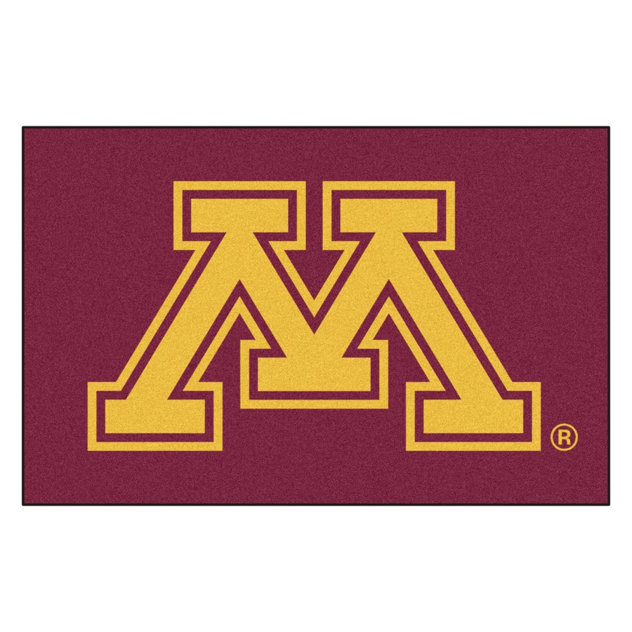 FANMATS University of Minnesota Rectangular Indoor Machine-Made Sports Throw Rug (Common: 1-1/2 x 2-1/2; Actual: 1.583-ft W x 2.5-ft L x dia)