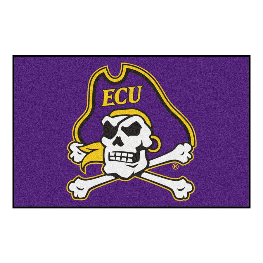 FANMATS East Carolina University Multicolor Rectangular Indoor Machine-Made Sports Throw Rug (Common: 1-1/2 x 2-1/2; Actual: 19-in W x 30-in L x 0-ft Dia)