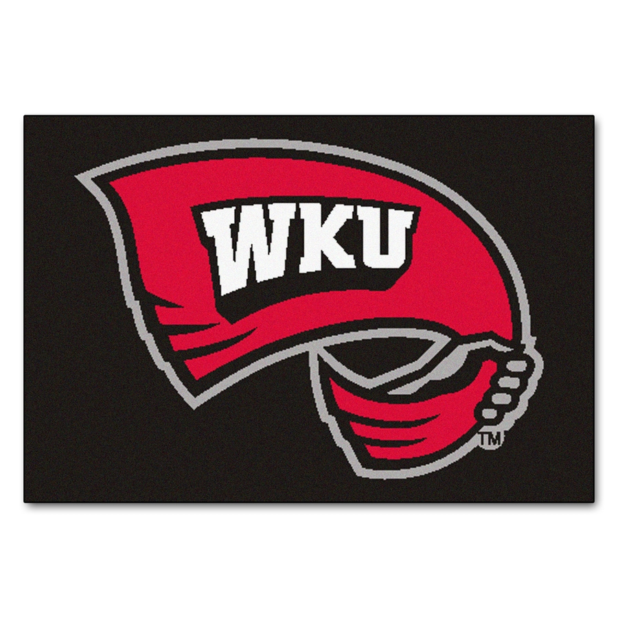 FANMATS Western Kentucky University Rectangular Indoor Machine-Made Sports Throw Rug (Common: 1-1/2 x 2-1/2; Actual: 1.583-ft W x 2.5-ft L x dia)