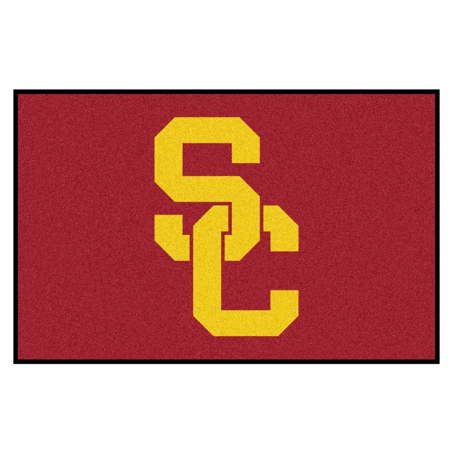 FANMATS University Of Southern California Multicolor Rectangular Indoor Machine-Made Sports Throw Rug (Common: 1-1/2 x 2-1/2; Actual: 19-ft W x 30-ft L)