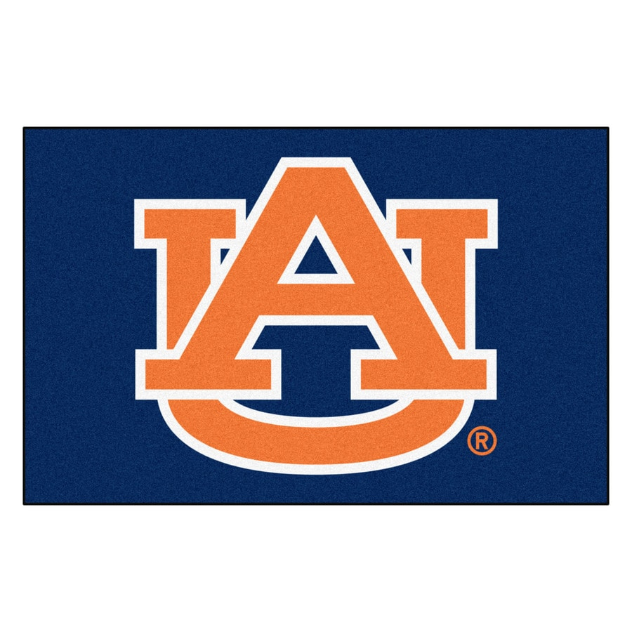 FANMATS Auburn University Rectangular Indoor Machine-Made Sports Throw Rug (Common: 1-1/2 x 2-1/2; Actual: 1.583-ft W x 2.5-ft L x dia)