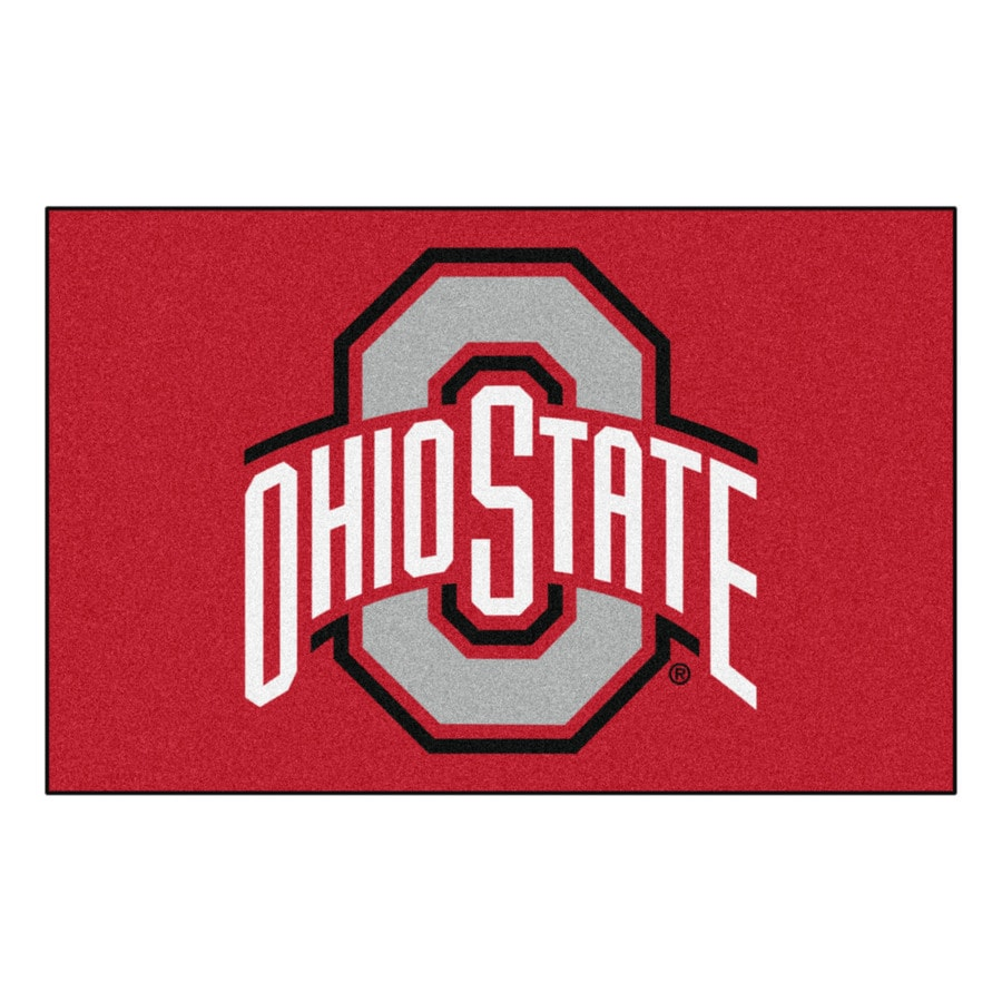 FANMATS Ohio State University Multicolor Rectangular Indoor Machine-Made Sports Throw Rug (Common: 1-1/2 x 2-1/2; Actual: 19-ft W x 30-ft L)