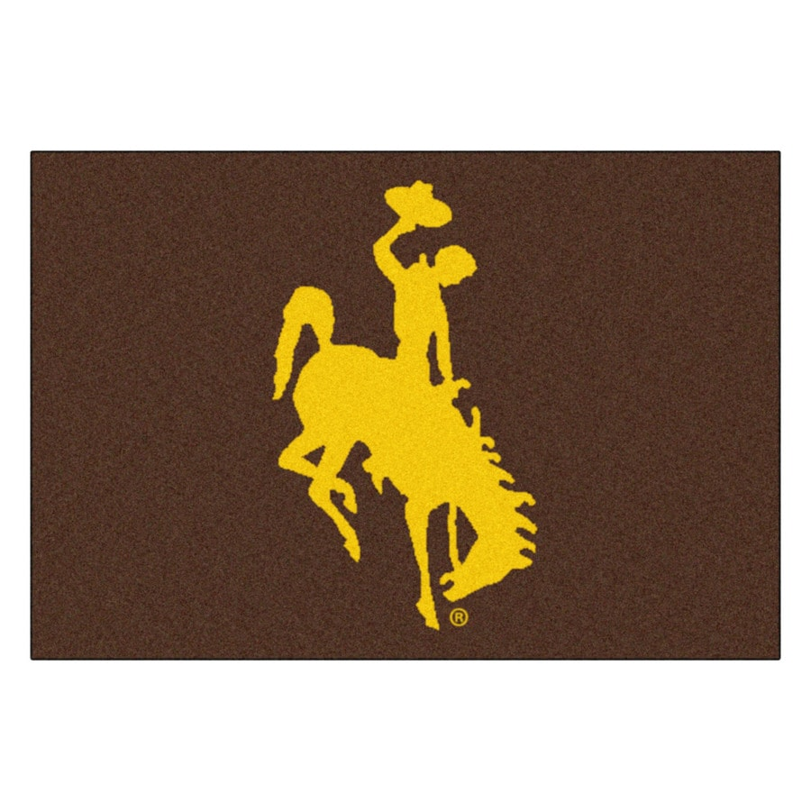 FANMATS University Of Wyoming Multicolor Rectangular Indoor Machine-Made Sports Throw Rug (Common: 1-1/2 x 2-1/2; Actual: 19-ft W x 30-ft L)
