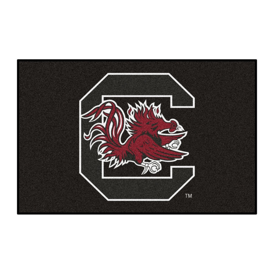 FANMATS University of South Carolina Rectangular Indoor Machine-Made Sports Throw Rug (Common: 1-1/2 x 2-1/2; Actual: 1.583-ft W x 2.5-ft L x dia)