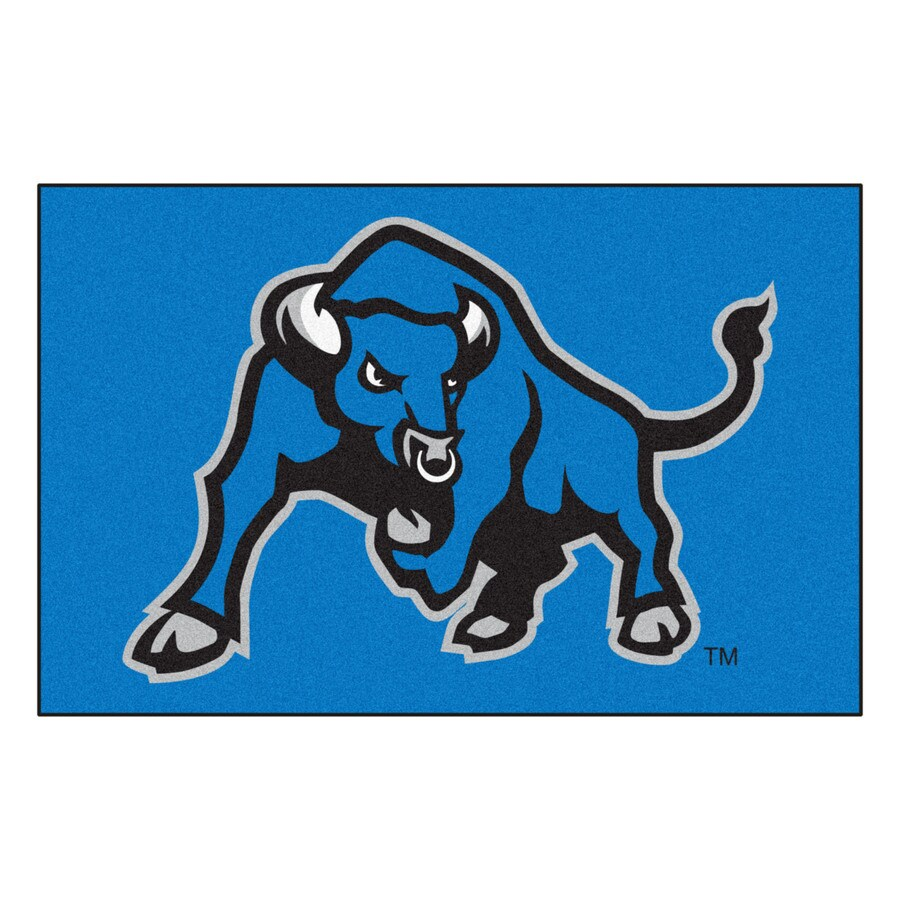 FANMATS State University Of New York At Buffalo Multicolor Rectangular Indoor Machine-Made Sports Throw Rug (Common: 1-1/2 x 2-1/2; Actual: 19-in W x 30-in L x 0-ft Dia)