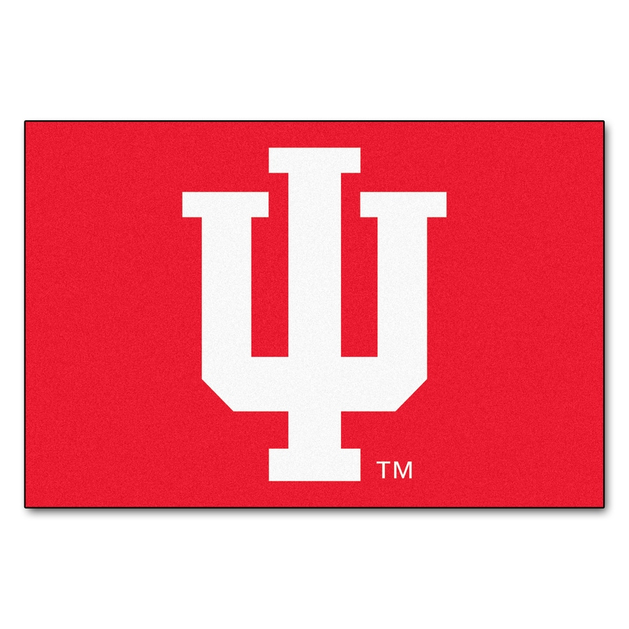 FANMATS Indiana University Multicolor Rectangular Indoor Machine-Made Sports Throw Rug (Common: 1-1/2 x 2-1/2; Actual: 19-in W x 30-in L x 0-ft Dia)