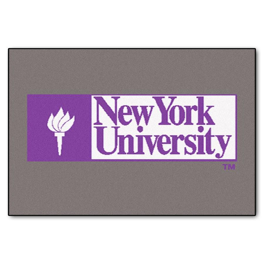 FANMATS NYU Rectangular Indoor Machine-Made Sports Throw Rug (Common: 1-1/2 x 2-1/2; Actual: 1.583-ft W x 2.5-ft L x dia)