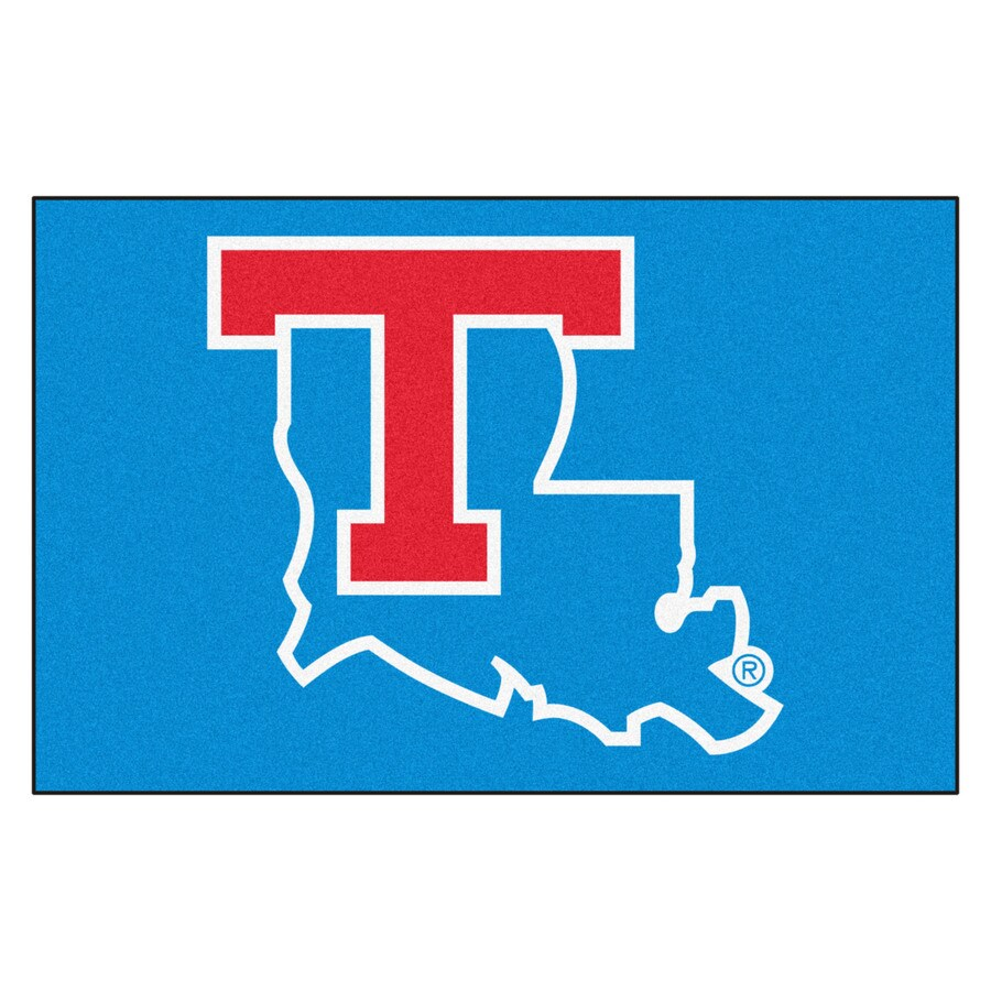FANMATS Louisiana Tech University Rectangular Indoor Machine-Made Sports Throw Rug (Common: 1-1/2 x 2-1/2; Actual: 1.583-ft W x 2.5-ft L x dia)