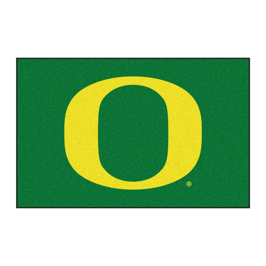 FANMATS University Of Oregon Multicolor Rectangular Indoor Machine-Made Sports Throw Rug (Common: 1-1/2 x 2-1/2; Actual: 19-ft W x 30-ft L)
