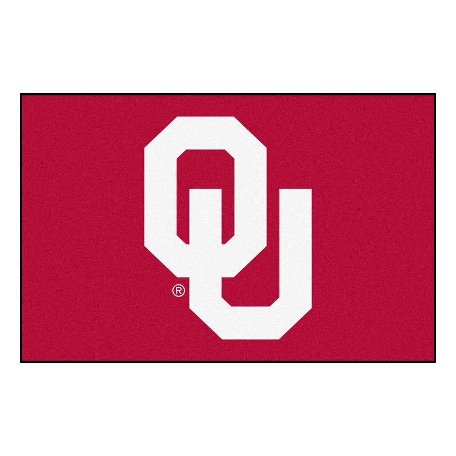 FANMATS University of Oklahoma Rectangular Indoor Machine-Made Sports Throw Rug (Common: 1-1/2 x 2-1/2; Actual: 1.583-ft W x 2.5-ft L x dia)