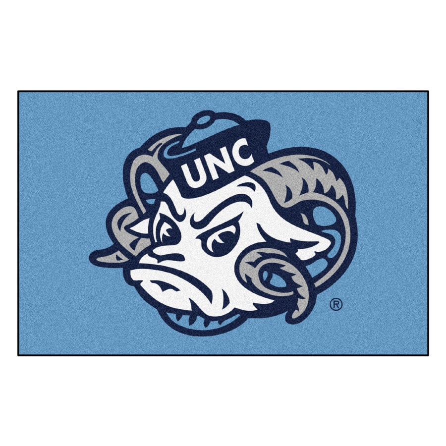 FANMATS University Of North Carolina- Chapel Hill Multicolor Rectangular Indoor Machine-Made Sports Throw Rug (Common: 1-1/2 x 2-1/2; Actual: 19-ft W x 30-ft L)