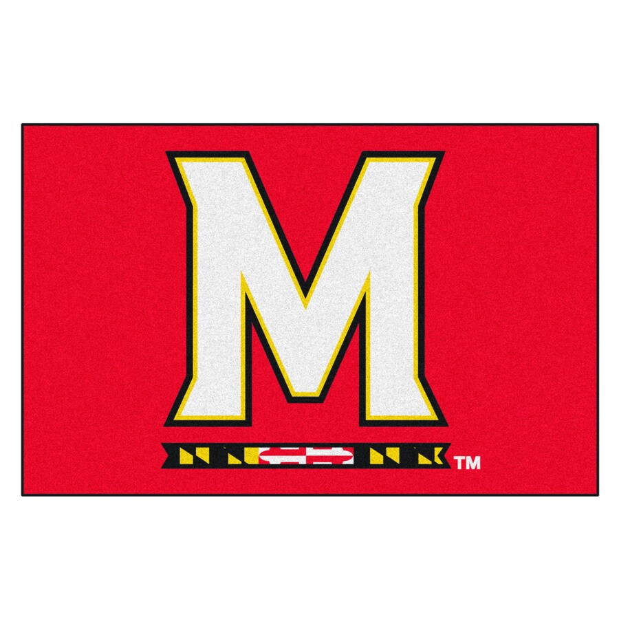 FANMATS University Of Maryland Multicolor Rectangular Indoor Machine-Made Sports Throw Rug (Common: 1-1/2 x 2-1/2; Actual: 19-ft W x 30-ft L)
