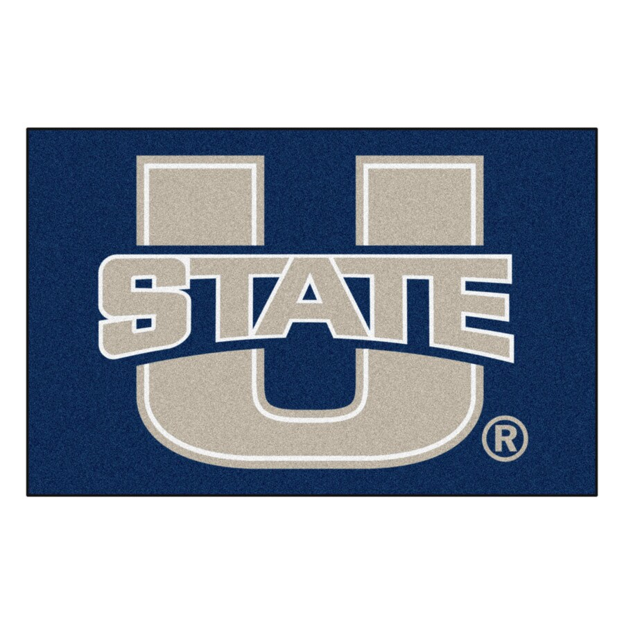 FANMATS Utah State University Multicolor Rectangular Indoor Machine-Made Sports Throw Rug (Common: 1-1/2 x 2-1/2; Actual: 19-ft W x 30-ft L)